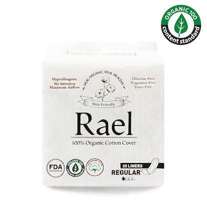 Rael Certified Organic Cotton Panty Liners, 20 Count (2 Pack)