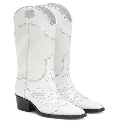 GANNI Exclusive To Mytheresa – Leather Cowboy Boots