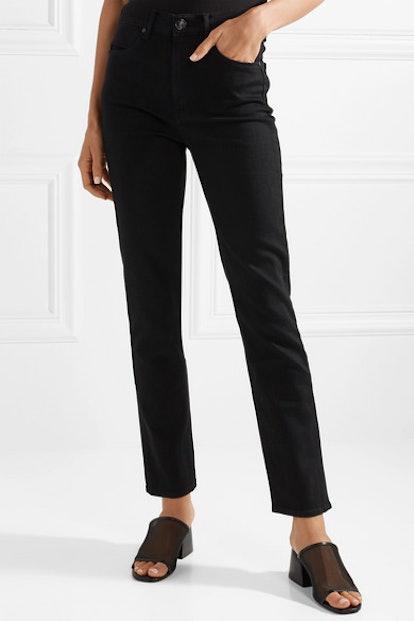 Cigarette High-Rise Slim-Leg Jeans