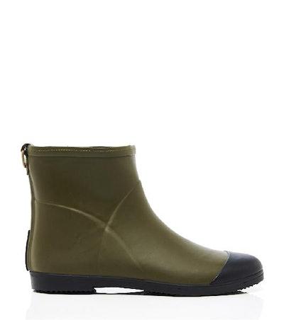 Minimalist Olive Ankle Boot