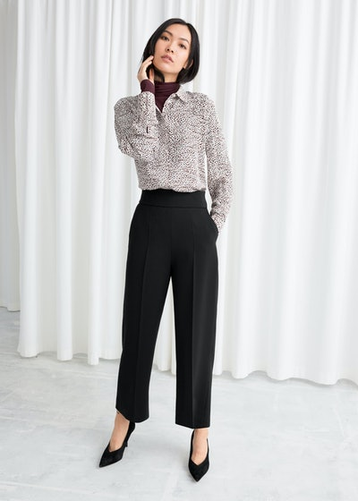 & Other Stories Cropped High Waisted Trousers