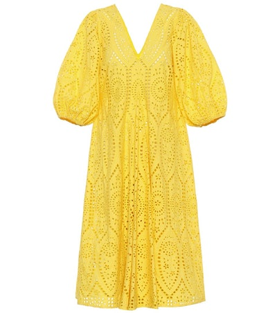 GANNI Exclusive To Mytheresa – Cotton Broderie Anglaise Dress