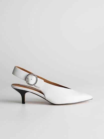 Pointed Slingback Kitten Heels