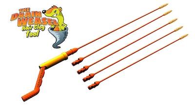 FlexiSnake Drain Weasel Sink Snake (5 Refill Wands)
