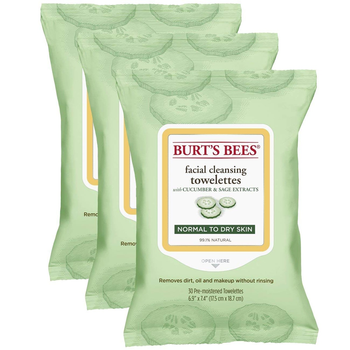 Burt's Bees Sensitive Facial Cleansing Towelettes (3 Pack)
