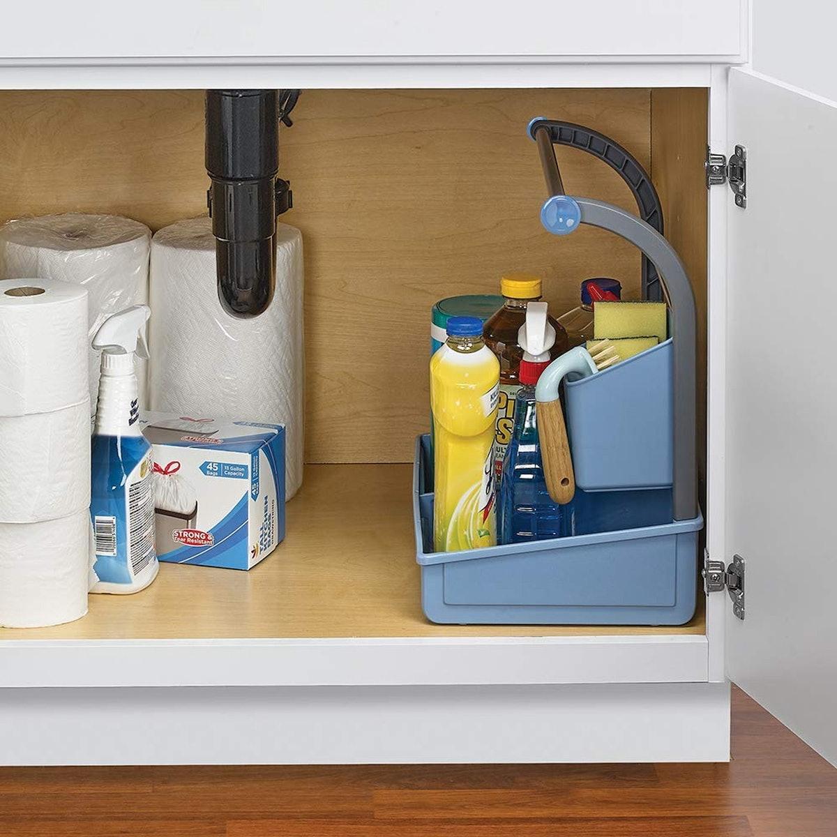 Polder Under-Sink Cleaning Supplies Organizer