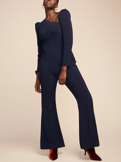 Textured Crepe Jumpsuit