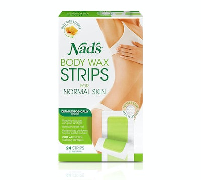 Nad's Body Wax Strips, 24 Count
