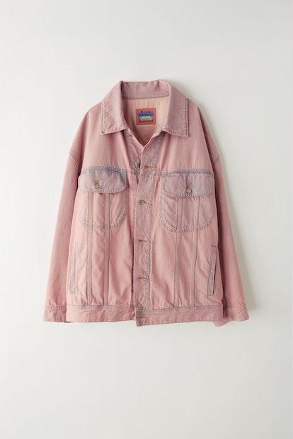 Denim jacket blue/pink