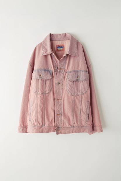Denim jacket blue/pink