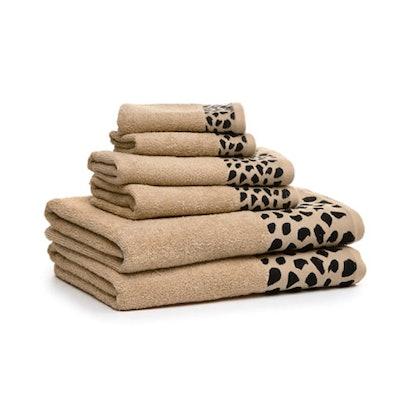 6-Piece Wildlife Cotton Towel Set