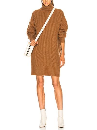 Cashmere Silk Turtleneck Sweater Dress