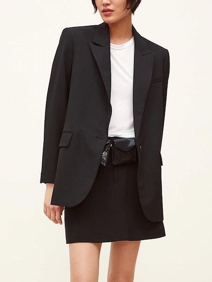 Buttoned Oversized Blazer