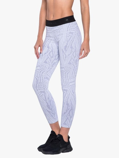 Knockout Jacquard Legging In White Galaxy