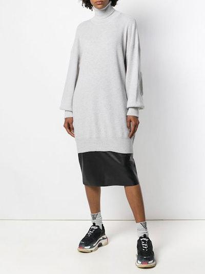 Turtle-Neck Sweater Dress
