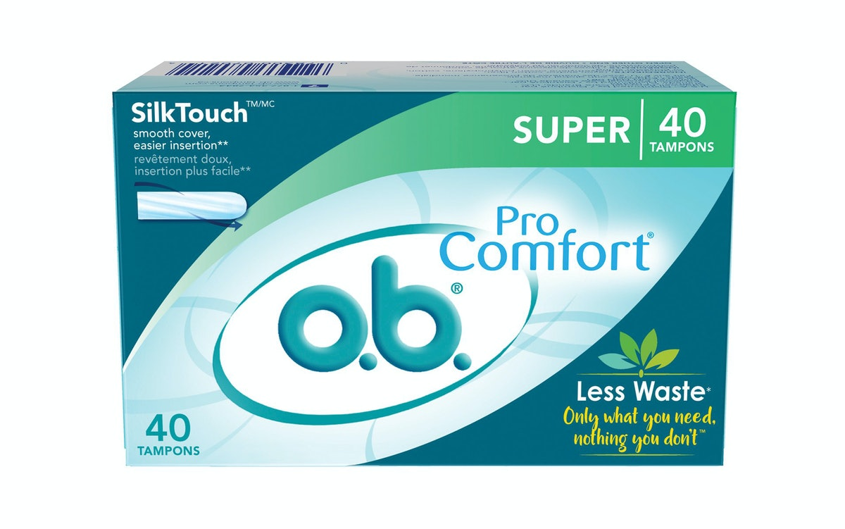 o.b. Applicator-Free Super Tampons (40 Count)