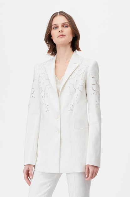 Tailored Eyelet Embroidered Jacket