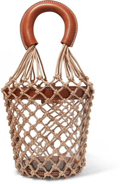 Moreau Leather, PVC and Macramé Bucket Bag