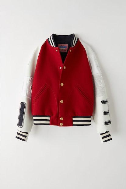 Letterman jacket red