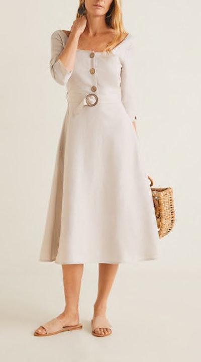 Belt Linen Dress