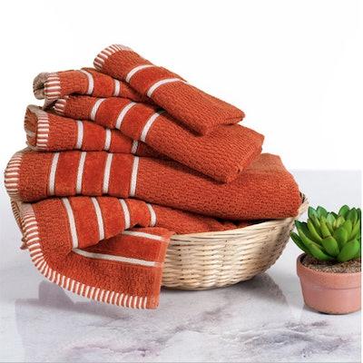 6-Piece Combed Cotton Bath Towels