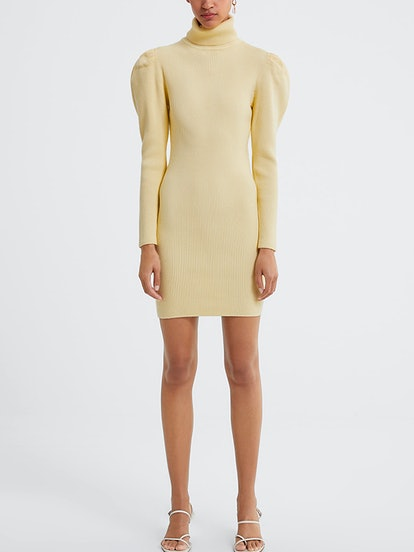 Balloon Sleeve Knit Dress