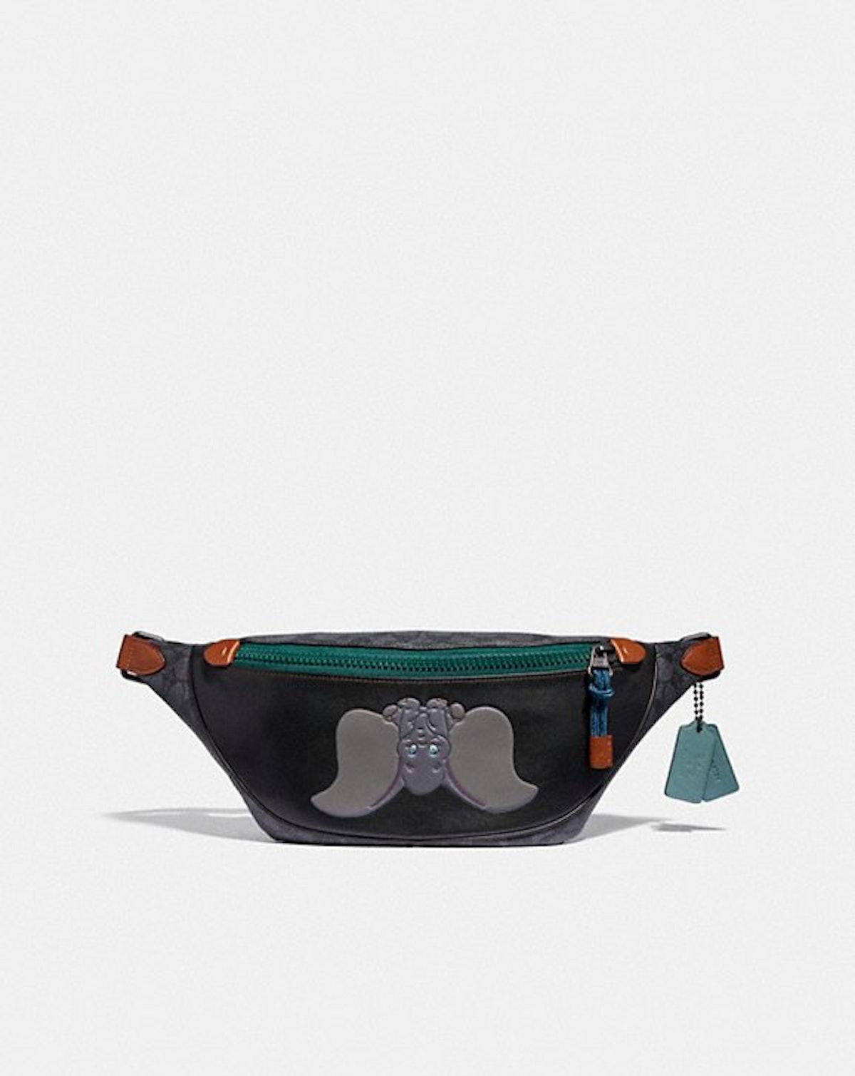 Disney X Coach Signature Rivington Belt Bag With Dumbo
