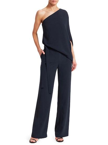 Asymmetric Wide Leg Jumpsuit