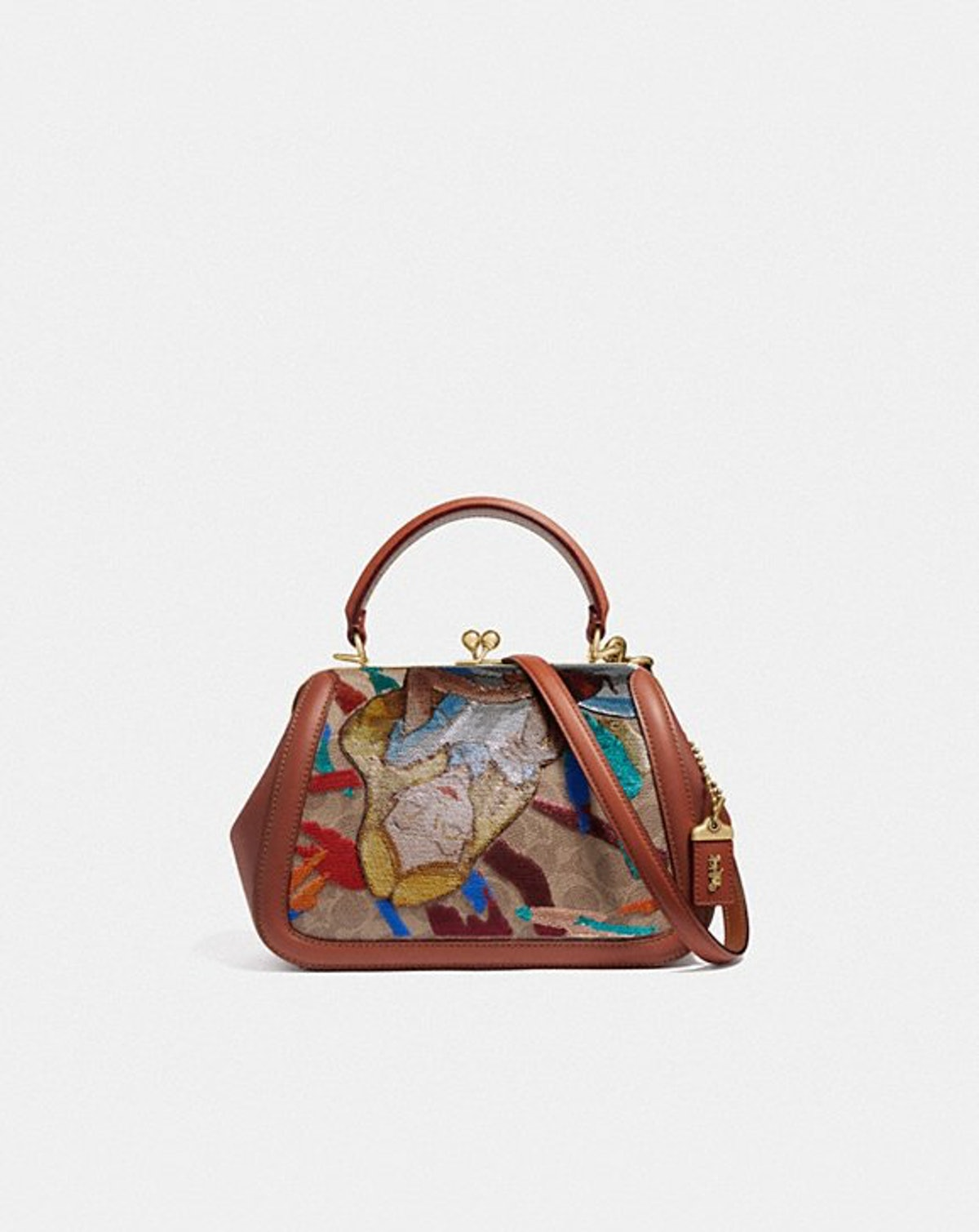 Disney X Coach Frame Bag 23 With Embellished Alice