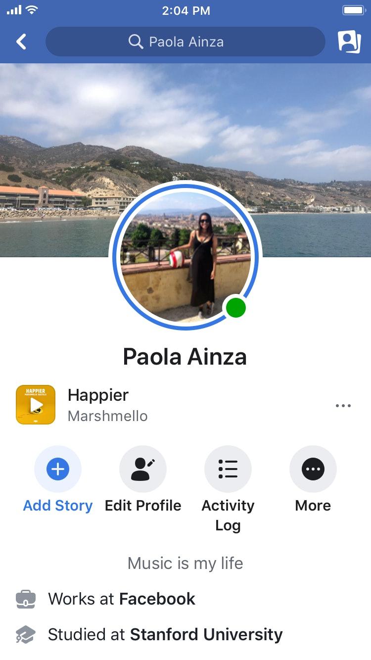 Facebook add profile picture