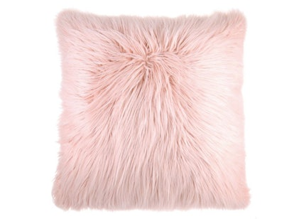Flokati Faux Fur Throw Pillow