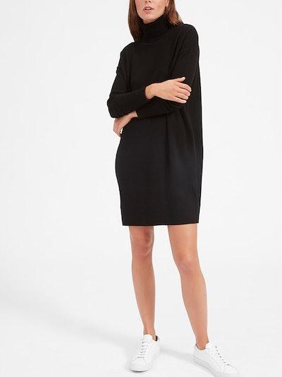 The Cashmere Turtleneck Dress