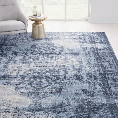 Distressed Arabesque Wool Rug (3X5)