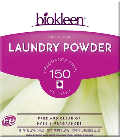 Biokleen Laundry Detergent Powder, Free & Clear, Unscented (10 Pounds)
