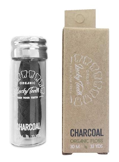 Lucky Teeth Organic Bamboo Fiber Charcoal Floss