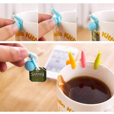 SOSUO Snail Shape Tea Bag Holders (Set of 10)