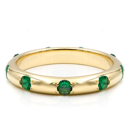 Rounded Ivy Emerald Infinity Band