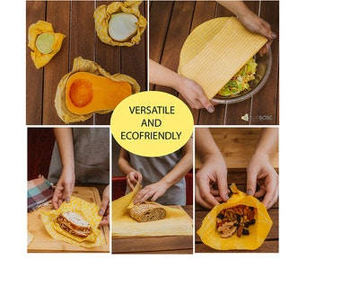OurBobe Organic Beeswax Food Wraps