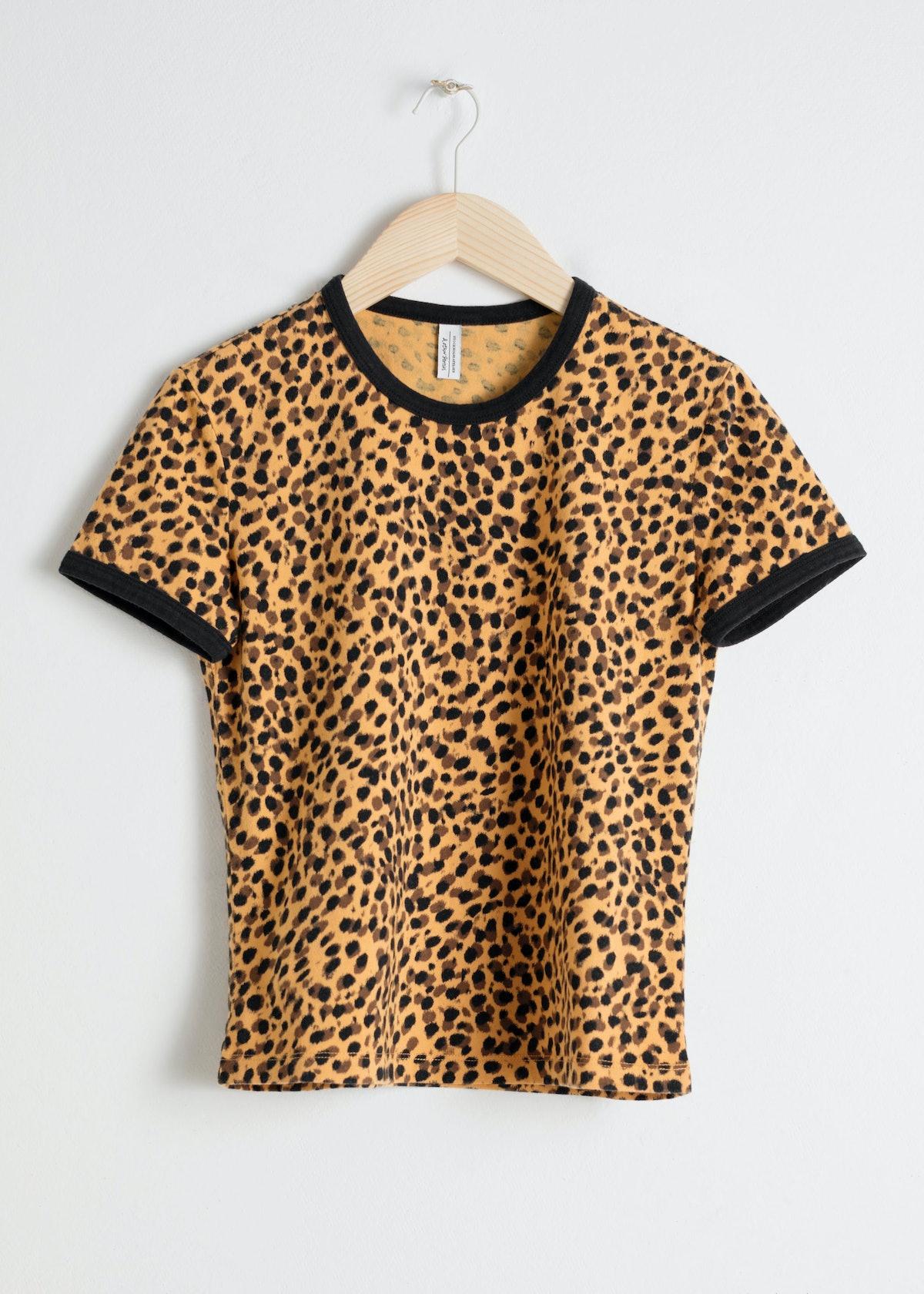 Leopard Print Ringer T-Shirt