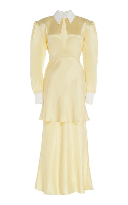 Tiered Art Deco Silk Dress