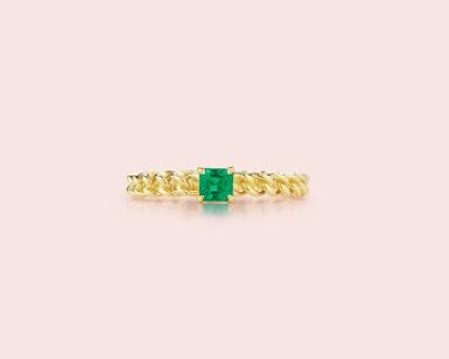 Toujours Asscher Cut Emerald Ring