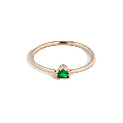 14k Gold Birthstone Ring No. 1 - Emerald