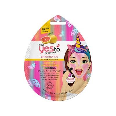 Yes To Grapefruit Vitamin C Glow-Boosting Unicorn Peel Off Mask