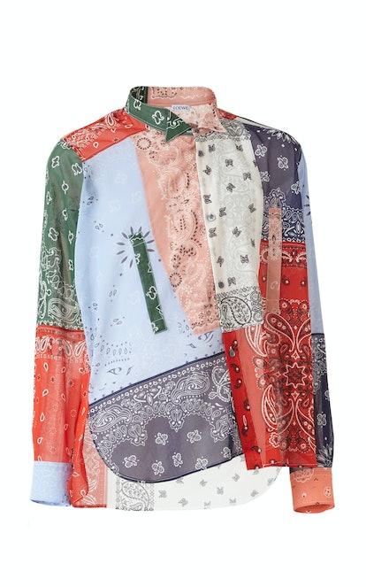Asymmetric Bandana Shirt