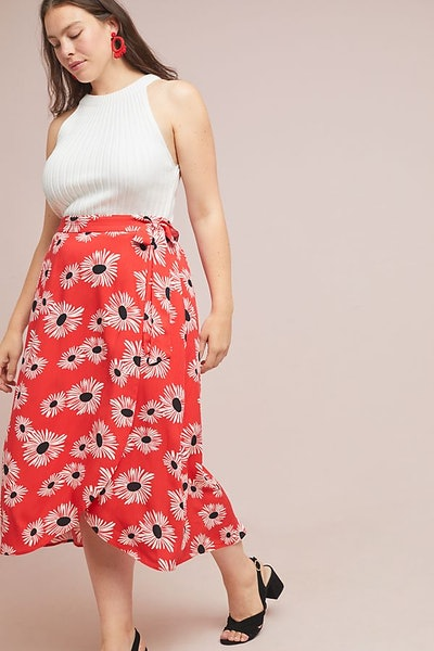 52 Conversations by Anthropologie Colloquial Wrap Skirt