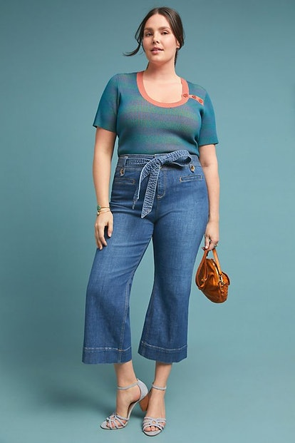 Pilcro and the Letterpress Pilcro High-Rise Cropped Flare Jeans