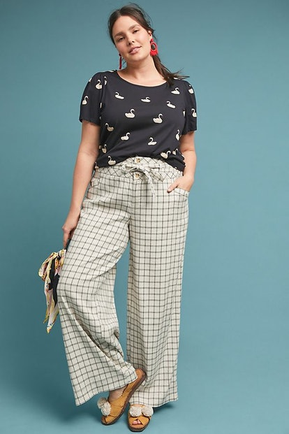 Anthropologie Windowpane Trousers
