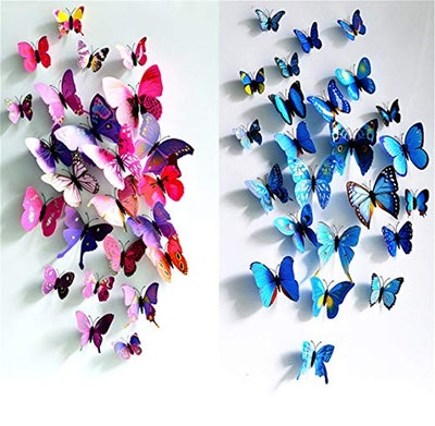 HAKDAY 24 PCS 3D Butterfly Wall Stickers