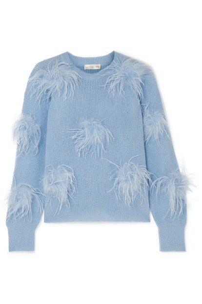 Candice Feather-Embellished Sweater