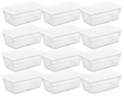 Sterilite 6-Quart Storage Boxes (12 Pack)